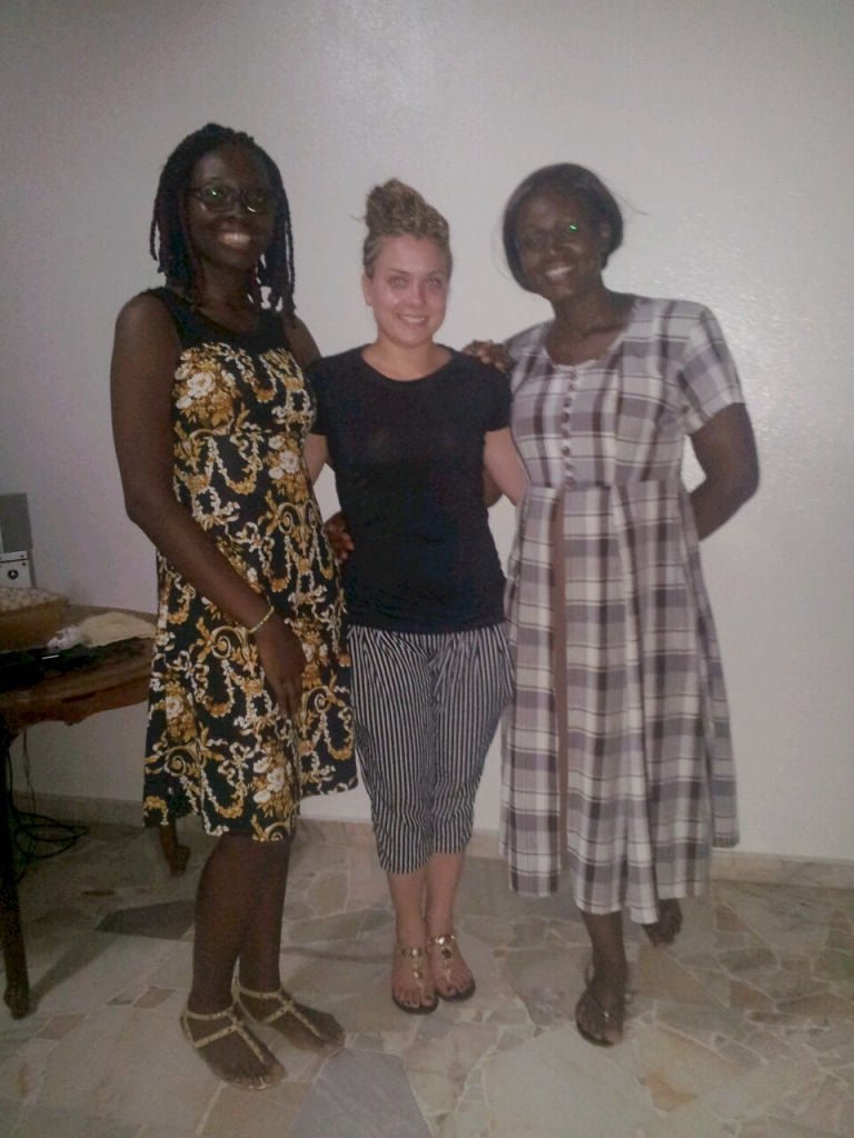 My hostess in Douala, Ghislain and new friend Ingrid who came to see me off!