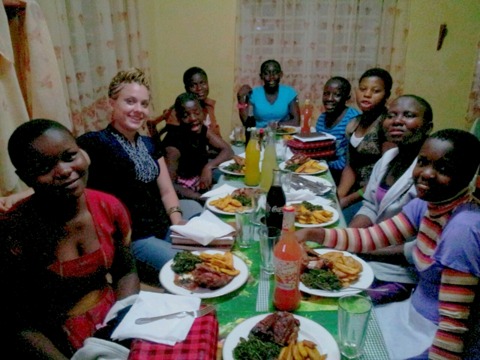 Last outing with the Children's Home older girls. We had a Bible study and ate!